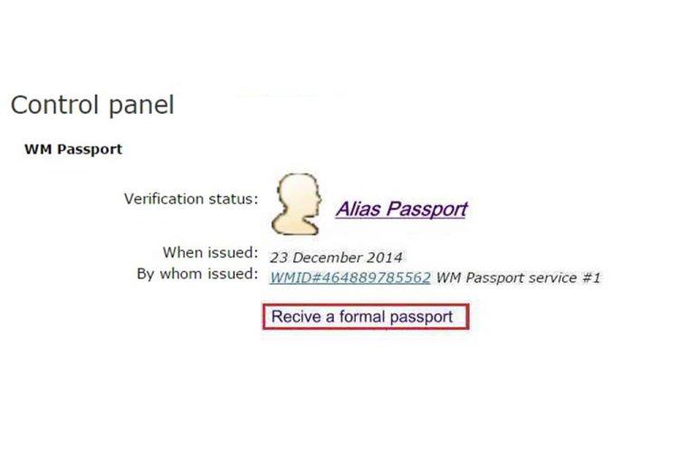 تایید پاسپورت وب مانی